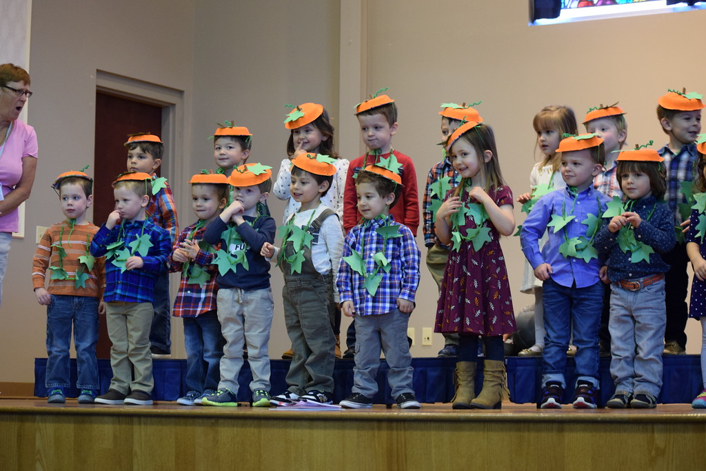 . Parents and family members watched excitedly Friday as students at St. Teresa of Calcutta performed songs and rhymes to get into the Thanksgiving spirit.  Marian Dennis -- Digital First Media