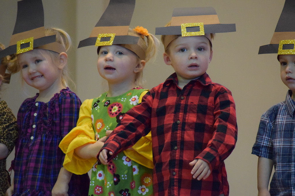 . Toddlers and young children performed Thanksgiving songs Friday as St. Teresa of Calcutta School in Limerick celebrated Thanksgiving early. Marian Dennis--Digital First Media