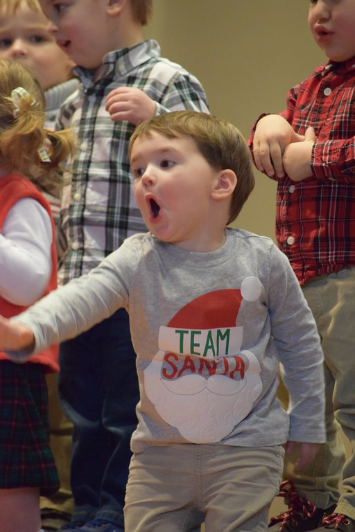 . Kids really got into the holiday spirit Friday as students at St. Teresa of Calcutta School performed Christmas songs during their Christmas concert. Marian Dennis -- Digital First Media