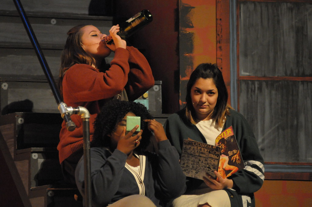 . Students dress rehearsal of Little Shop of Horrors at Pottstown High School February 28, 2017. Gene Walsh � Digital First Media