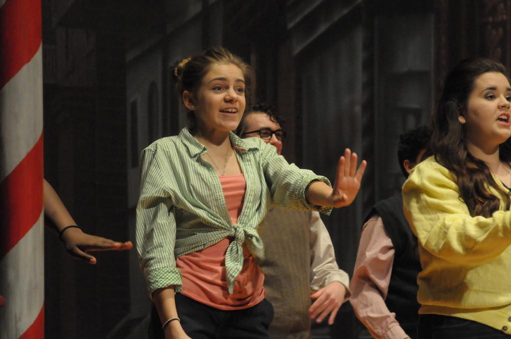 . Students dress rehearsal of Little Shop of Horrors at Pottstown High School February 28, 2017. Gene Walsh � Digital First Media