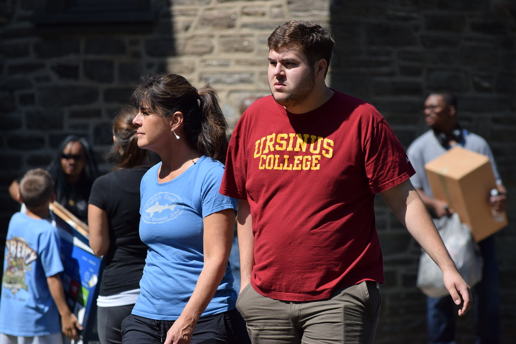 . Marian Dennis � Digital First Media Students and family members sporting Ursinus apparel took a stroll around the campus Thursday during move-in day for the class of 2021.