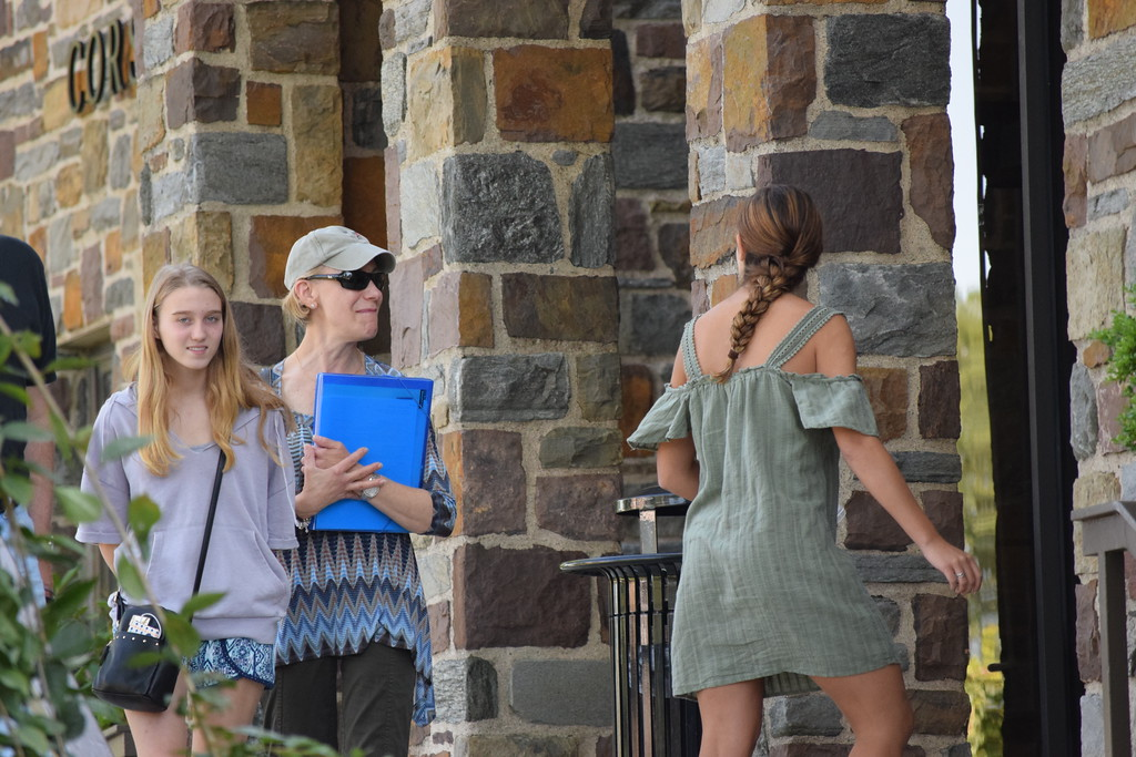 . Marian Dennis � Digital First Media New students and their families took a look around the campus during Ursinus College�s move in day on Thursday.