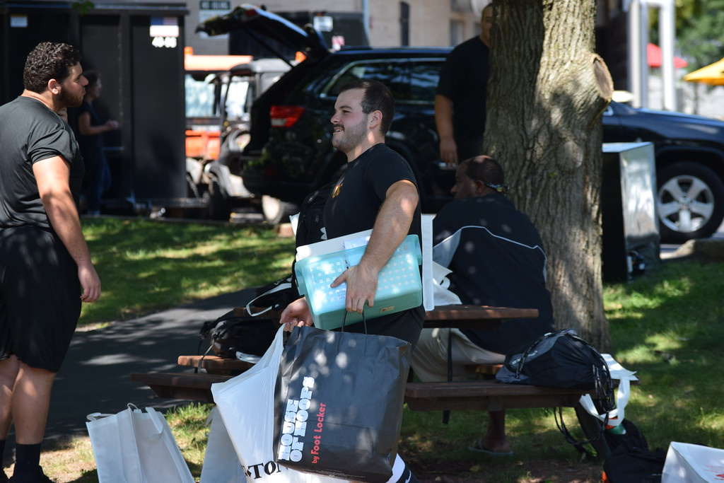 . Marian Dennis � Digital First Media Thursday Aug. 24 was move-in day at Ursinus College for the class of 2021. Friends and family busied themselves after an early morning of registration with moving items into the students� new dorms.