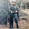 Karen Lundy, (Spec 4) - West Reading, PA - Karen proudly served in the US Army, under Reagan, during the years 1980 through 1984 in the U S Army. This photo was taken in 1983 at Ft Hood, Texas, during a field training exercise. We were heading out for yet another march!