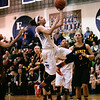 (Tuesday March 4th 2014 - Farmington High School - Farmington MI)  Grosse Pointe South's #2 Aliezza Brown takes a shot on the basket during the game Tuesday night at Farmington High against Mercy High. Photo by: Brian B. Sevald
