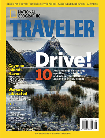 My National Geographic Cover - Milford Sound with Mitre Peak