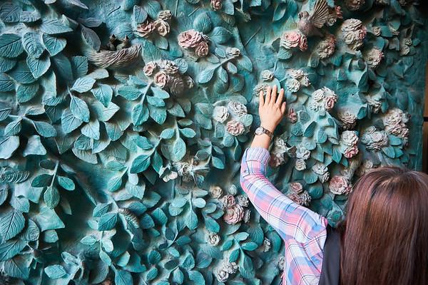 The textural entrance to Antonio Gaudi's Sagrada Famalia, Barcelona