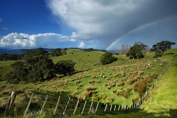 Rainbow country at Scandrett Regional Park
