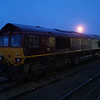 66093 sits in the holding sidings at Didcot