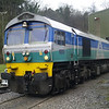 59001 'Yeoman Endeavour' sits on Whatley Quarry shed