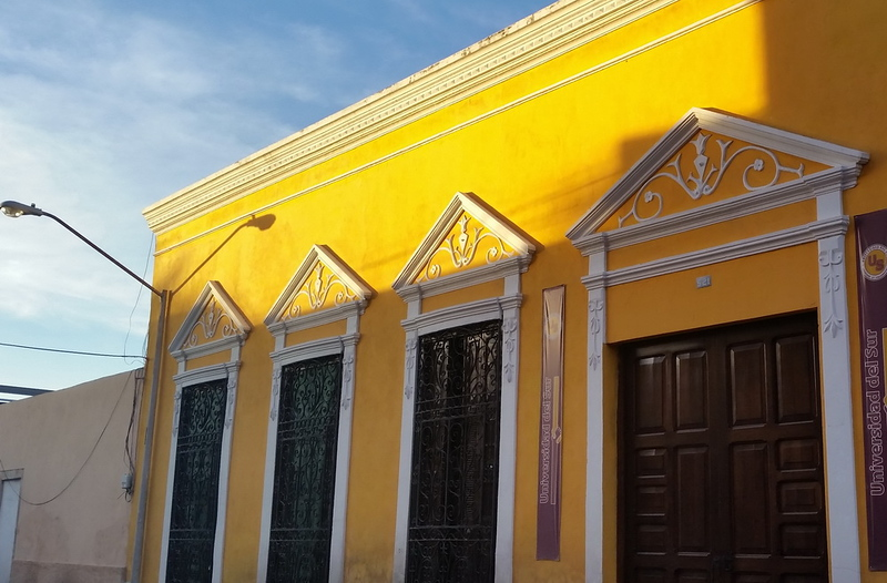 Colonial Merida, Restored facade in Centro