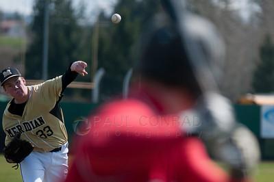 © Paul Conrad/ Pablo Conrad Photography - Meridian Trojan boys against the Brewster Bears at Meridian High School in Bellingham on April 2, 2014. Meridian lost 5-4.