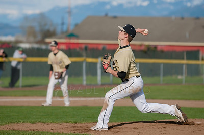 © Paul Conrad/ Pablo Conrad Photography - Meridian Trojan boys against the Lynden Lions at Meridian High School in Bellingham, Wash., on Thursday afternoon April 9, 2014. The Lions defeated the Trojans 6-4.