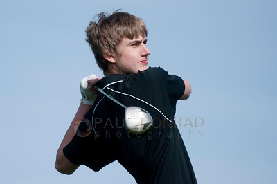 © Paul Conrad/ Pablo Conrad Photography - Meridian High School boys golf hosts at the North Bellingham Golf Course on Thursday afternoon April 10, 2014.