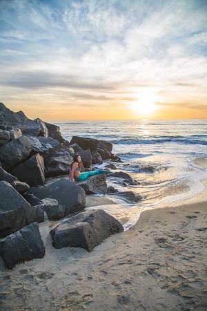 Mermaid at Sunset