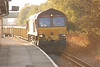 66 176 <br /> <br /> Arrives off the Wrexham line with a train of bedding stone