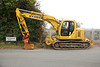 New Holland Kobelco E135 Rail Bug <br /> <br /> Location: Drummond Road by the Track Access gate <br /> <br /> Euro # 911132-7<br /> <br /> Fleet # 5477 <br /> <br /> Date 6th Oct 2011