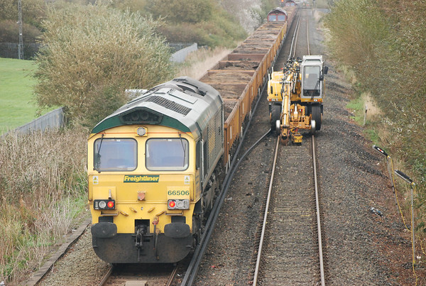 66506 heads for bidston as the other two head there at a very sedate pace