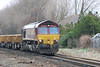 66132 <br /> <br /> followed up behind 66130's train with another train of empty wagons ready to be filled with spoil