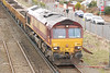 66132 <br /> <br /> shot taken of 66132's spoil train taken from the top of the station footbridge