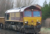 66132 <br /> <br /> close up shot of 66132 waiting to be loaded with spoil .
