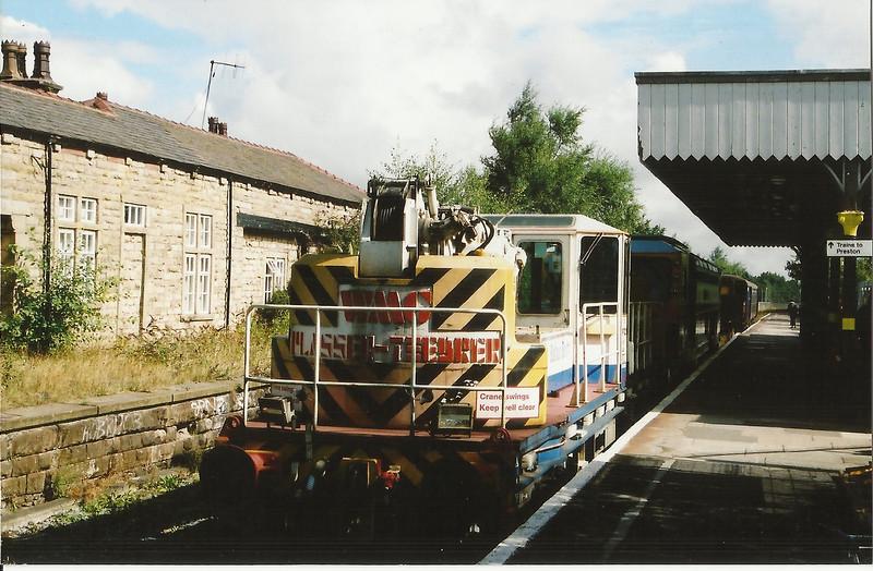 Crane 78218 Twin Jib Crane <br /> <br /> &<br /> <br /> Tamper 73915 <br /> <br /> Sit in the single platform of Ormskirk Merseyrail Platform