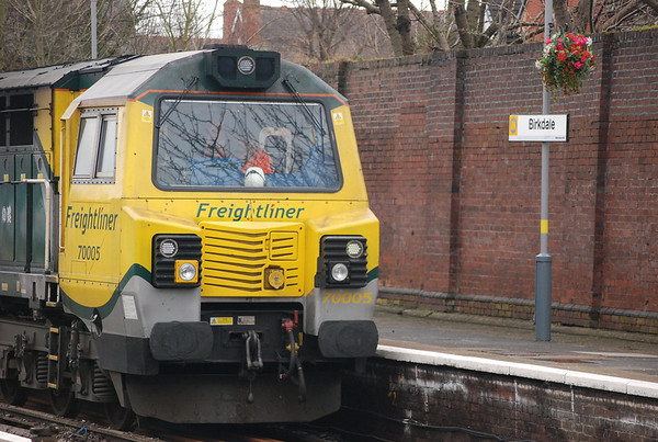 70 005 and Birkdale Merseyrail sign