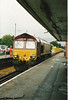 66 005 <br /> <br /> Sits in the Liverpool Bound Platform at Blundellsands & Crosby <br /> <br /> With a Rake of MRA Ballast Wagons <br /> <br /> 23rd Oct 2005