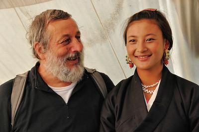Kandze - Jean-François et une jolie Tibétaine - Sichuan - Chine