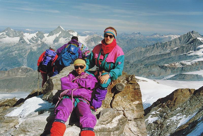 Jean-Paul et Pascal au Mont Rose - Valais - Suisse