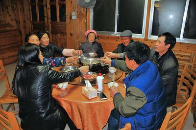 Ping'an - Nos hôtes à l'hôtel - Guangxi - Chine