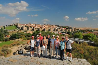 Une partie du groupe à Ávila (Monique, Catherine, Alain, Isabelle, Francis, Chantal, Gisèle, Dominique et moi-même) - Castille-et-León - Espagne