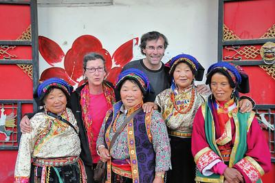 Aba - En compagnie de Tibétaines - Sichuan - Chine