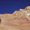 Christine, Pascal et Christophe dans la descente de l'Aconcagua - Mendoza - Argentine