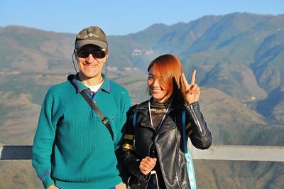 Luoxiagou - Pascal et la jolie Chinoise - Yunnan - Chine