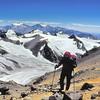 Christophe dans les pentes de l'Aconcagua - Mendoza - Argentine