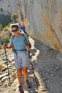 Annie dans les vires de la Sierra de Guara - Aragon - Espagne