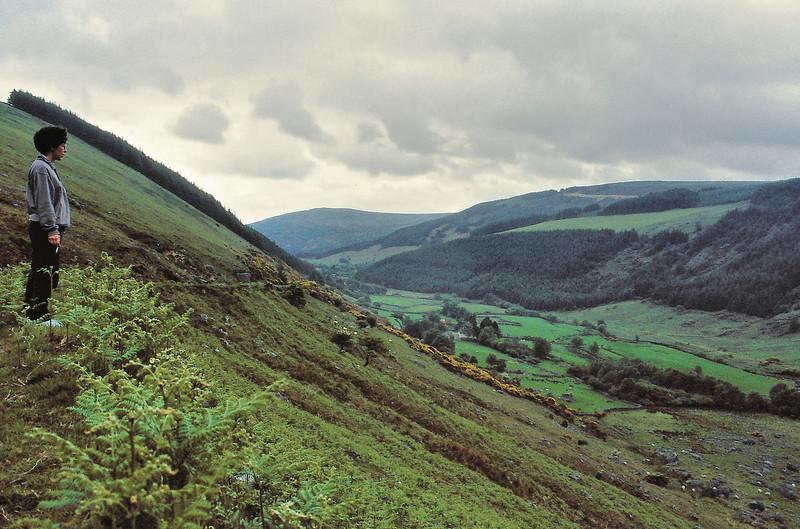 Marie-Claude en contemplation devant Wicklow Mountains -  Wicklow - Irlande