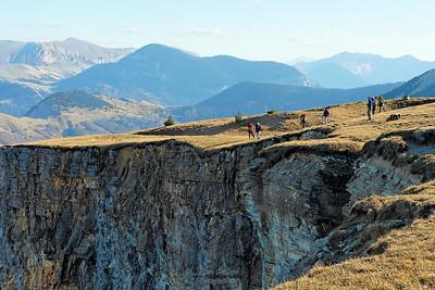 04-11-2006 Vercors sud - Vallée de Combau Crête en arrivant à Tête Chevalière