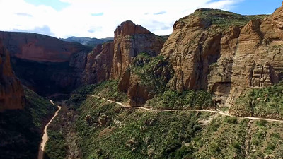 1-Apache Trail switchback road