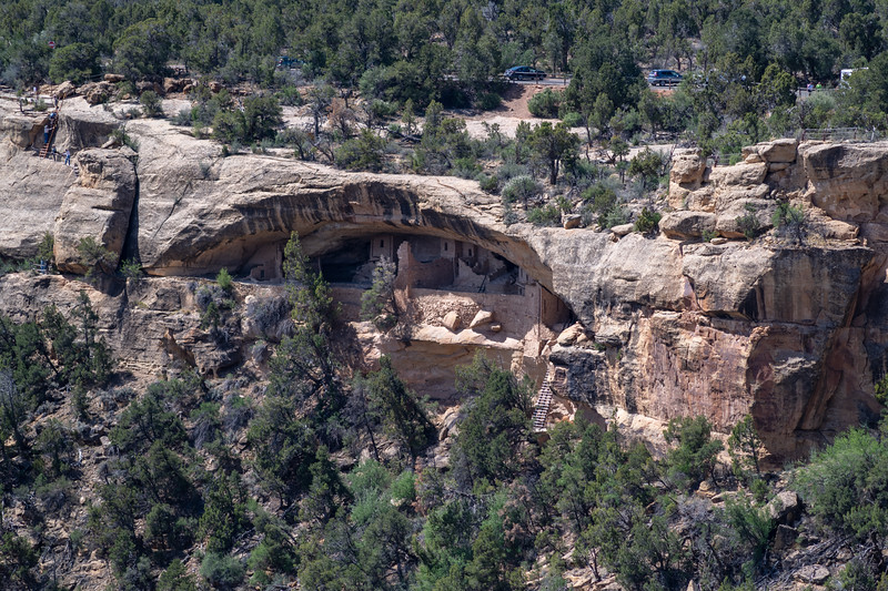 Balcony House is located 6,700 feet (2043 m) above sea level.  The one hour Park Ranger led tour is well worth the $5 fee.  The tours are available starting April 15th.  There are other Cliff Dwelling tours but they start in late May ... early June.
