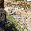 View of the ladder and valley from Balcony House.  Taking PICs can be a challenge with a tour group of 25+ people.
