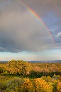 Rainbow above Mesa Verde