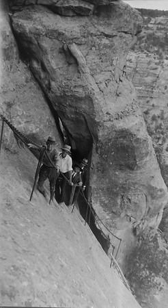 Balcony house area of Mesa Verde national park. 1920s-1930s.