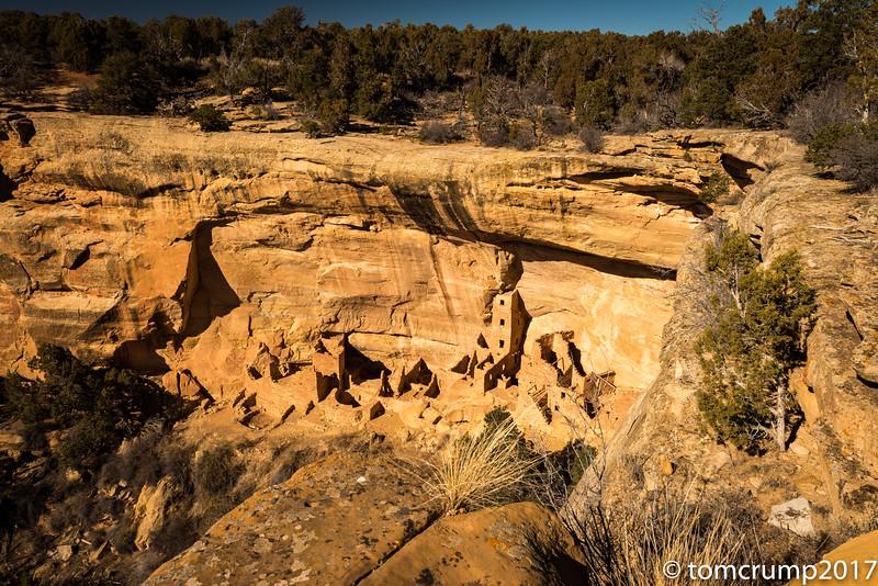 recent reconstruction project, Mesa Verde