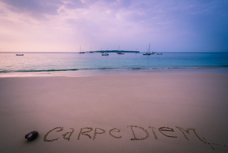 Photo Art Message 9 - Carpe Diem By Messagez.com