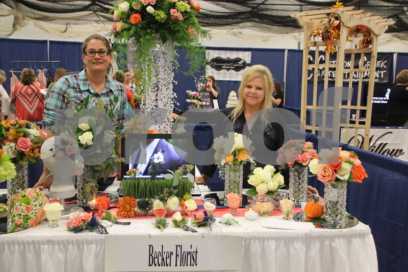 Sunday, October 16, 2016 Iowa Central Community College was the sight of the 2016 Messenger Bridal Show. The event took place in the Career Education Building on their Fort Dodge campus. Pictured (left to right) is: Audrey Stauter and Sandi Kuebler from Becker Florist, a vendor at the event.