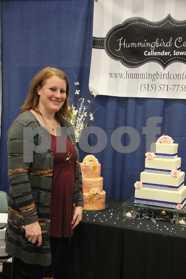 Sunday, October 16, 2016 Iowa Central Community College was the sight of the 2016 Messenger Bridal Show. The event took place in the Career Education Building on their Fort Dodge campus. Kaitlyn Stewart, one of the many vendors at the event is pictured here.