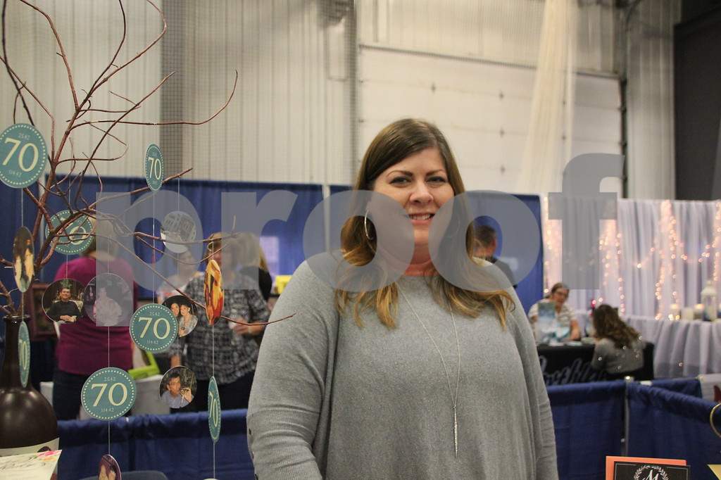 Sunday, October 16, 2016 Iowa Central Community College was the sight of the 2016 Messenger Bridal Show. The event took place in the Career Education Building on their Fort Dodge campus. Shown is: Sara Hill of Sara Hill Design, who was a vendor at the event.